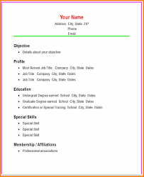 10 Create A Simple Resume Grittrader