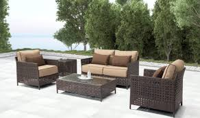Outdoor Living Room Sets Pinery Outdoor Living Room Set In Brown Beige By Zuo Getfurniture