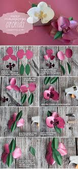 Paper Orchid Flower Diy Paper Orchid Papercrafts Pinterest Paper Flowers Paper