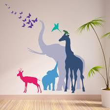 seven safari animal wall stickers new sizes