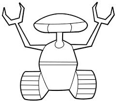 Rups Robot Kleurplaat Gratis Kleurplaten Printen
