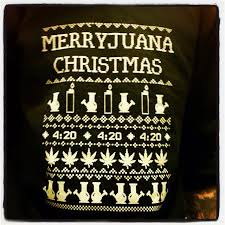 MARIJUANA CHRISTMAS SWEATER on The Hunt