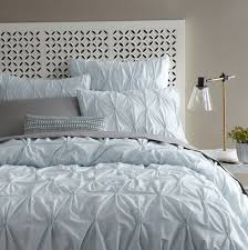 pintuck duvet cover white