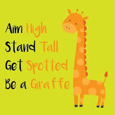 Cute Giraffe Vector Motivational Quote For Card Or Print Material Cool Giraffe Quotes