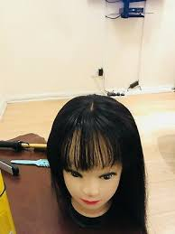 bang brazilian human hair wig straight