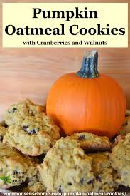 pumpkin oatmeal cookies with