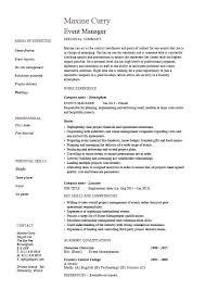 Demand Planner Resume Sample Event Manager Resume Samples Demand