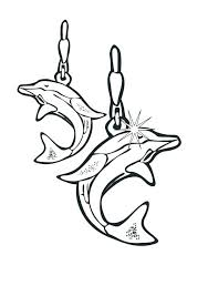 jewelry coloring pages top rated images dolphin earrings page ancient