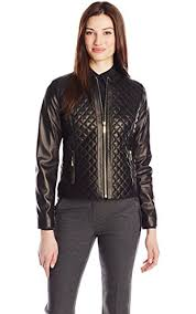 Cole Haan Women's Quilted Leather Jacket, Black, Small ❤ Cole ... & Cole Haan Women's Quilted Leather Jacket, Black, Small ❤ Cole Haan Women's  Outerwear Adamdwight.com