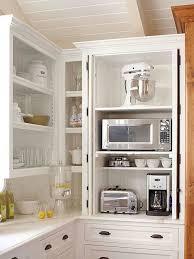 narrow kitchen corner storage unit