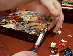 Decorating Cigar Boxes How to Decorate a Humidor with Cigar Bands CH Blog 33