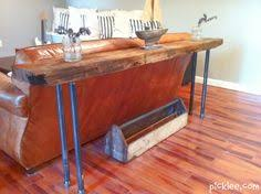 Restoration Hardware inspired rustic DIY sofa table So simple to