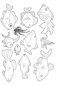 School Of Fish Coloring Pages