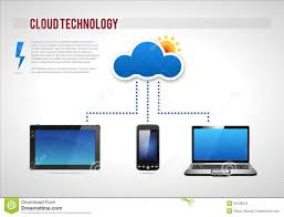 Cloud Technology Presentation Diagram Template Vec Stock