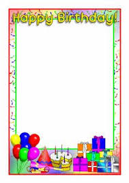 boy birthday border clipart  happy birthday a4 page borders sb4931 clipart