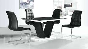 white gloss round table and chairs black glass high gloss dining table and 4 chairs set