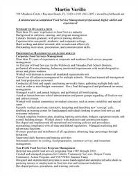 Food service manager resume to inspire you how to create a good resume 7