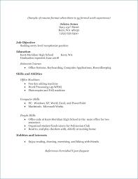 Resume High School Graduate No Experience Publicassets Us