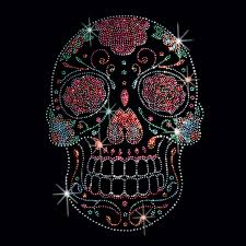 Design A Sugar Skull Online Sugar Skull T Shirt Rhinestone Studs Floral Gothic Mens Fashion Fit Small To 4xlfunny Unisex Casual Gift Online Shop T Shirt Shirts Designer From