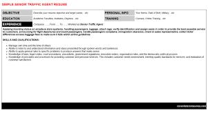 Senior Traffic Agent Resume Cover Letter Cv Letters Resumes