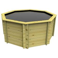 octagonal wooden pond 12ft 1099mm height 44mm thick wall