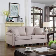 73 inch sofa. Fine Inch Classic 73inch Love Seat Living Room Linen Fabric Sofa Beige Throughout 73 Inch M