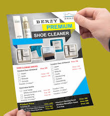 flyer companies flyer for shoes cleaner company flyer and brochures pinterest