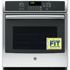 ge 27 in single electric wall oven self cleaning with steam plus convection in