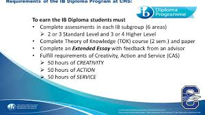 chandler high school international baccalaureate programme ppt 8 to