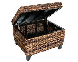 round seagrass coffee table ottoman coffee table with deep storage pottery barn round woven seagrass coffee