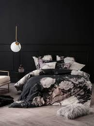 linen house mlha black duvet cover fl printed flower print reverable