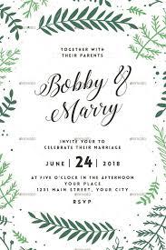 green fl wedding invitation