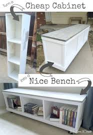 classic diy repurposed furniture pictures 2015 diy. Cheap Cabinet Into Nice Bench. Diy Classic Repurposed Furniture Pictures 2015
