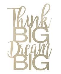think big dream big 3 d metal wall décor