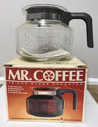 The lid of the carafe activates the valve on the bottom of the brew basket. Vintage Mr Coffee 12 Cup Replacement Glass Decanter Carafe Model D12 C 1976 Ebay Glass Decanter Coffee Maker Vintage Coffee