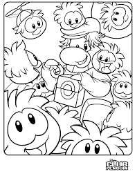 Small Picture Club Penguin Puffle Coloring Page New Club Penguin Puffle Coloring