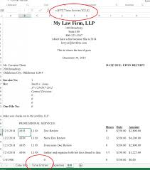 A Pictorial Walkthrough On How To Use Excel For Law Firm Billing