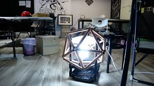 diy building a geometric icosahedron light with copper pipes twenty sided