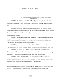 SENATE JOINT RESOLUTION 821 By Crowe A RESOLUTION to honor the memory of Bettie  Kirk Wilson of Johnson City. WHEREAS, the memb