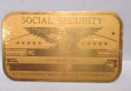 Vintage Metal Original – Social Card Unused - Security