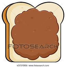peanut butter clipart.  Clipart Clipart  Bread Slice With Peanut Butter Fotosearch Search Clip Art  Illustration Murals Butter I