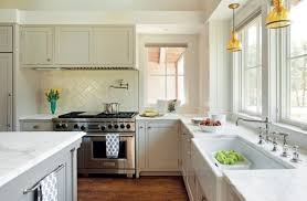 old kitchen furniture. Shaker-style Cabinetry And Marble Countertops Offer A Traditional Feel In This New Farmhouse On Old Kitchen Furniture