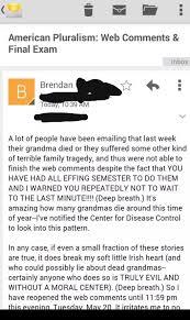 irish college professor is sick of your dead granny excuses did