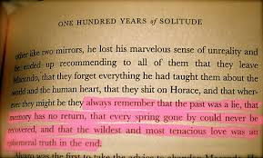 years of solitude qoutes writer solitude  100 years of solitude qoutes