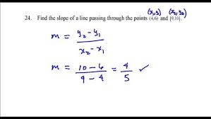 find the slope of line passing through points 46 and 9 point form calculator given two