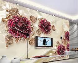 3d Behang2017 Custom Muralfoto Behangmooie Vlinder Bloem