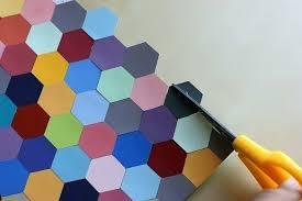 how to make wall decor diy hexagon framed art step 3