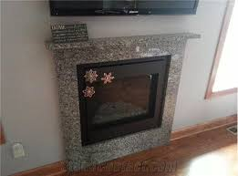 caledonia granite fireplace mantel