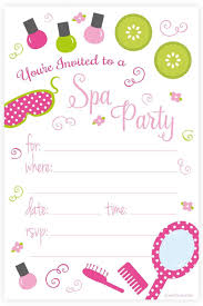E Invites For Birthday Spa Birthday Party Invitations Fill In Style 20 Count With