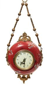 a french domed wall hanging clock 20th